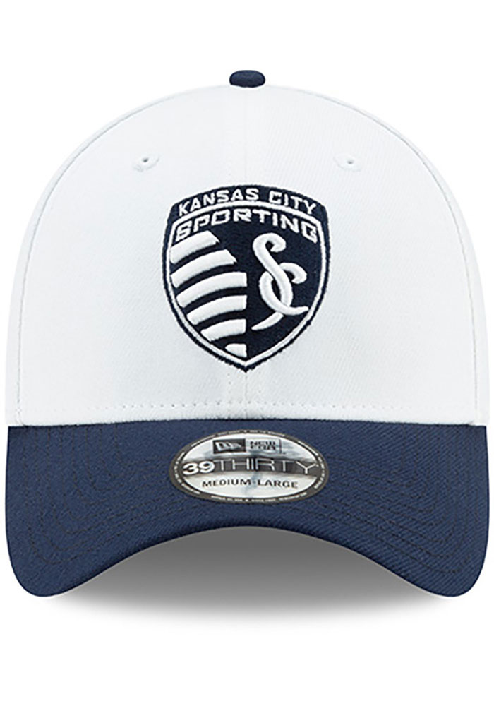 New Era Sporting Kansas City Mens Navy Blue MLS 2019 Pride Celebration 39THIRTY Flex Hat - Image 3