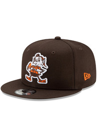 Cleveland Browns New Era Brownie Basic 9FIFTY Snapback - Brown