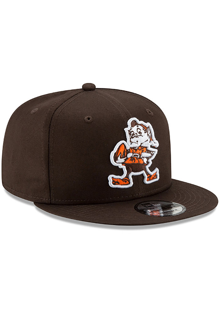 New Era Cleveland Browns Brown Brownie Basic 9FIFTY Mens Snapback Hat - Image 2