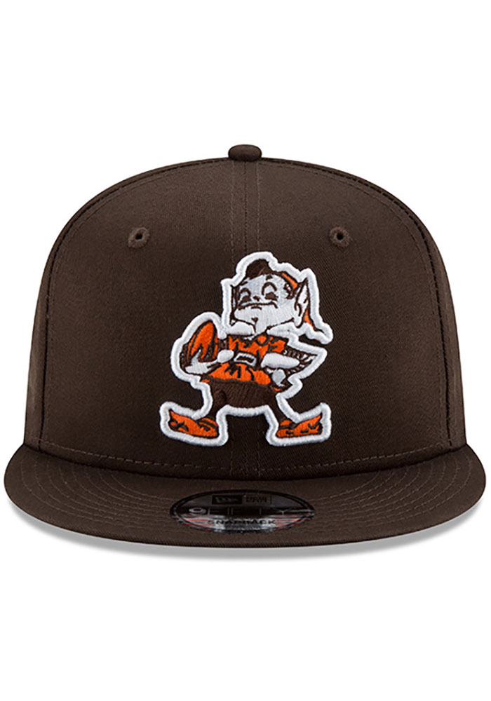 New Era Cleveland Browns Brown Brownie Basic 9FIFTY Mens Snapback Hat - Image 3