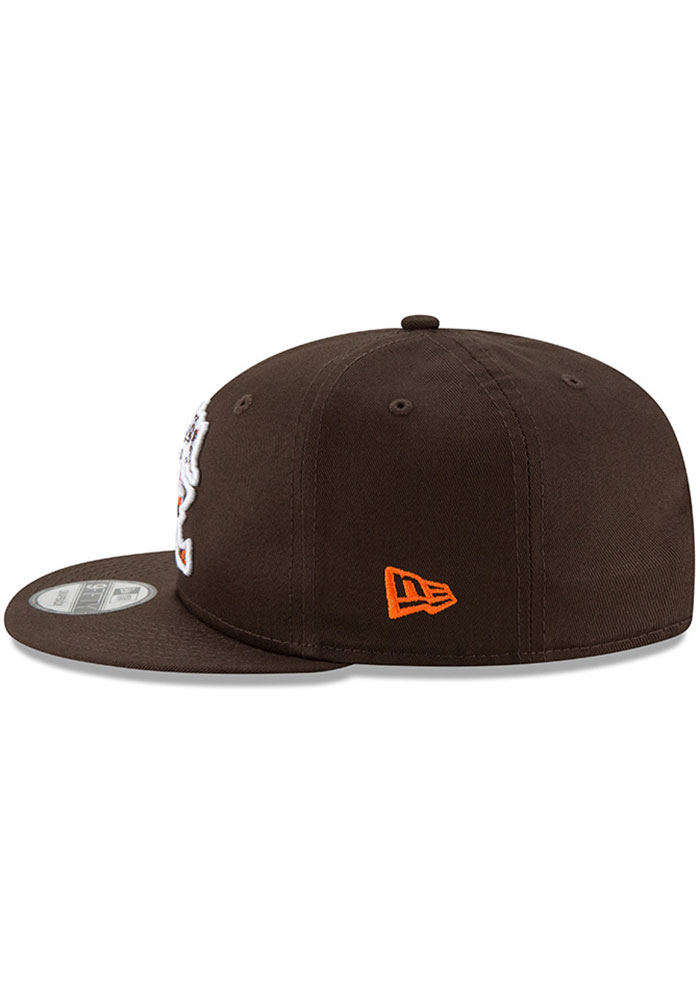 New Era Cleveland Browns Brown Brownie Basic 9FIFTY Mens Snapback Hat - Image 4