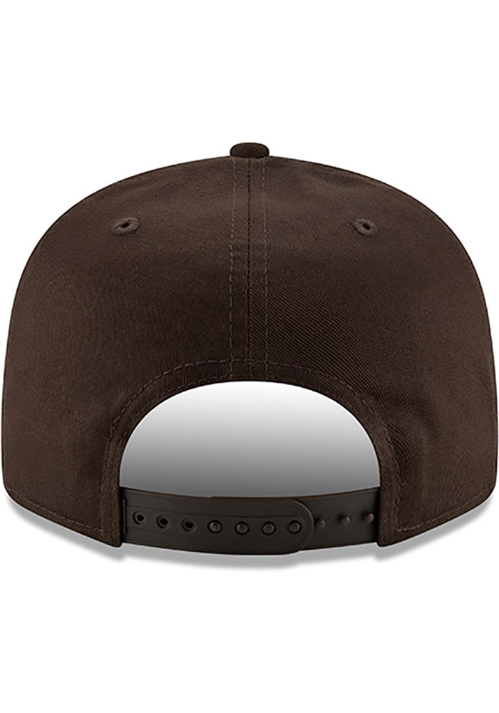 New Era Cleveland Browns Brown Brownie Basic 9FIFTY Mens Snapback Hat - Image 5