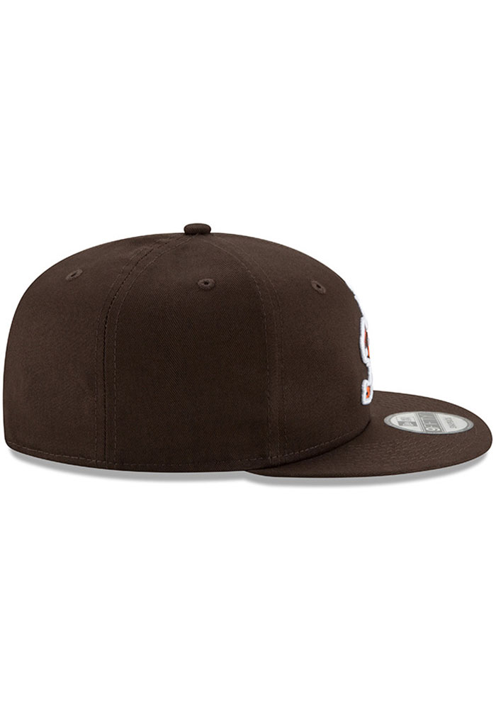 New Era Cleveland Browns Brown Brownie Basic 9FIFTY Mens Snapback Hat - Image 6