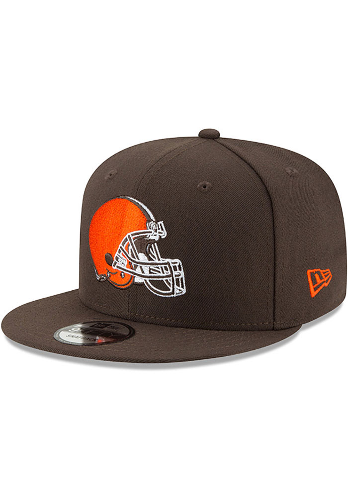 New Era Cleveland Browns Brown Basic 9FIFTY Snapback Hat d6a98a3df