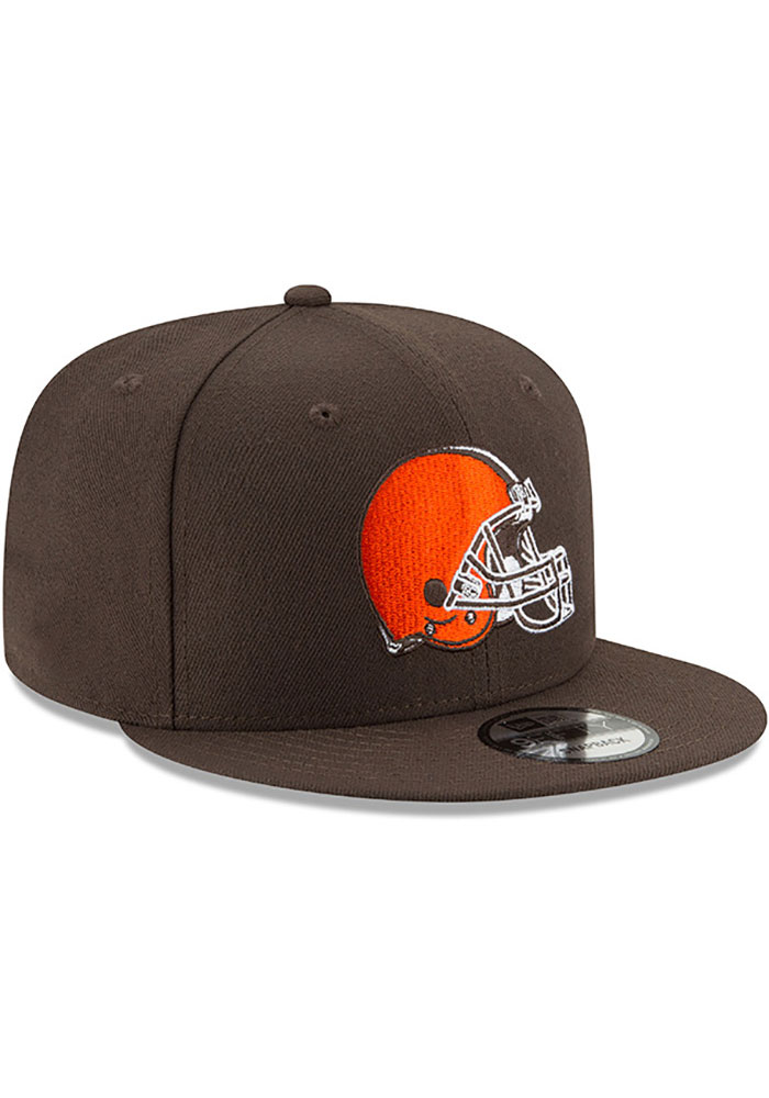 New Era Cleveland Browns Brown Basic 9FIFTY Mens Snapback Hat - Image 2