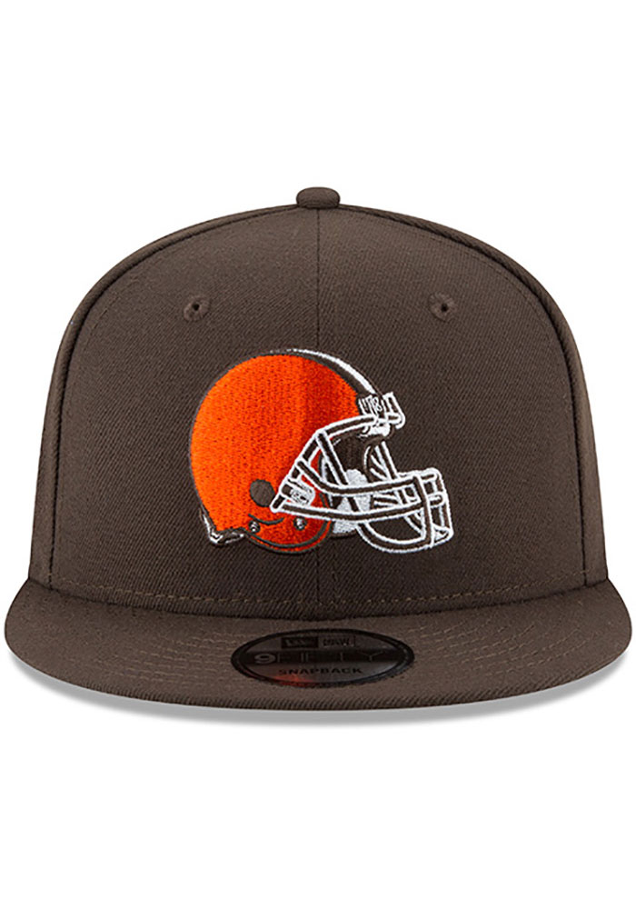 New Era Cleveland Browns Brown Basic 9FIFTY Mens Snapback Hat - Image 3