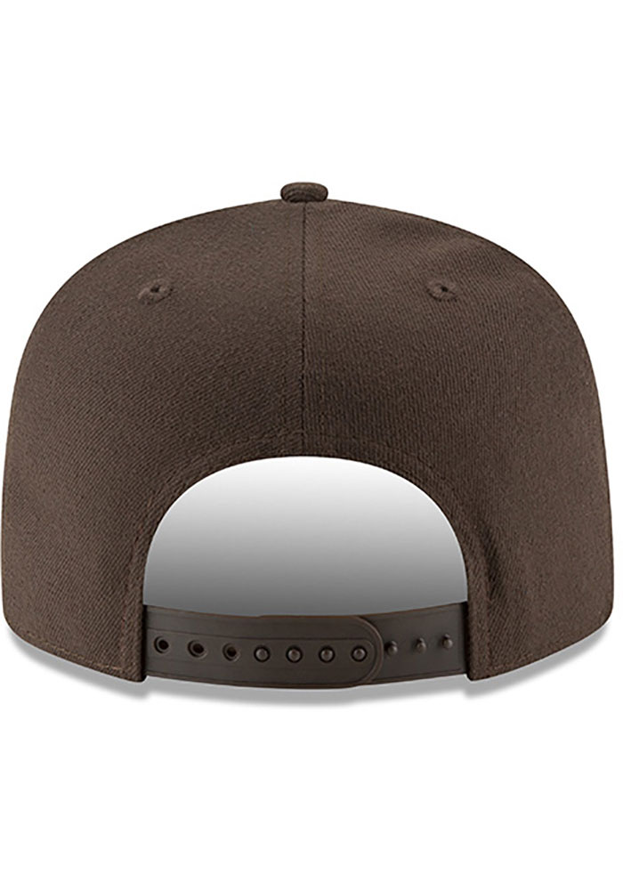 New Era Cleveland Browns Brown Basic 9FIFTY Mens Snapback Hat - Image 4