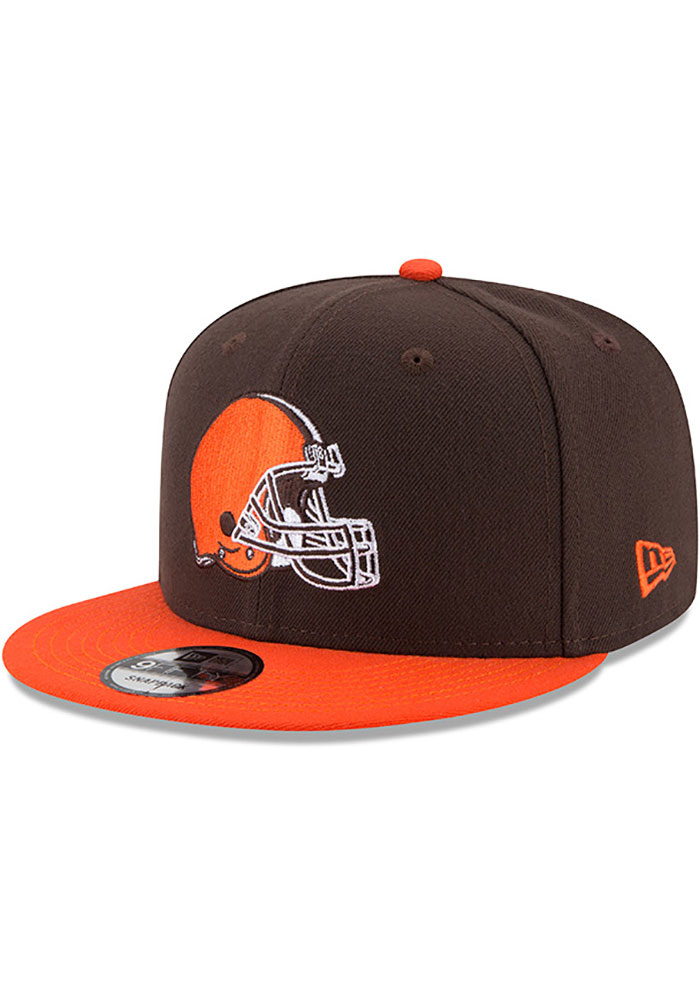 New Era Cleveland Browns Brown 2T Basic 9FIFTY Mens Snapback Hat - Image 1