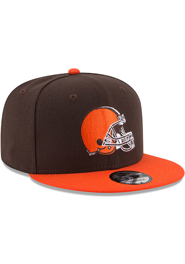 New Era Cleveland Browns Brown 2T Basic 9FIFTY Mens Snapback Hat - Image 2