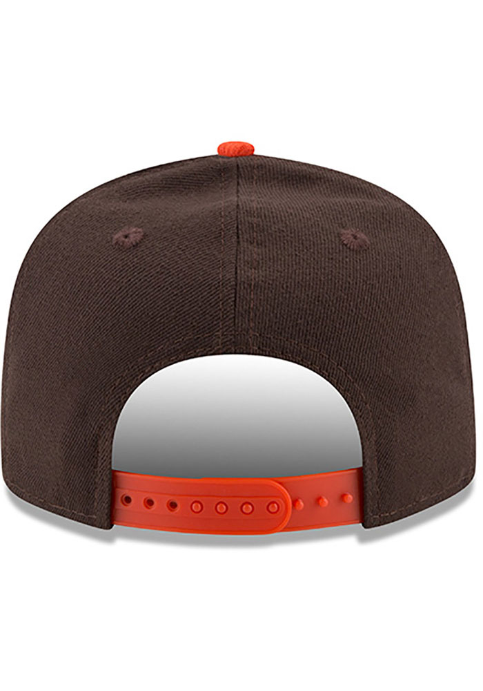 New Era Cleveland Browns Brown 2T Basic 9FIFTY Mens Snapback Hat - Image 4