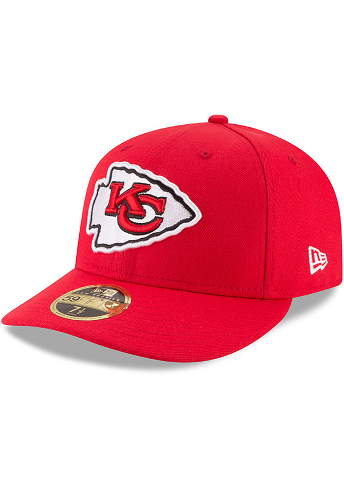 New Era Kansas City Chiefs Mens Red Basic LP59FIFTY Fitted Hat - Image 1