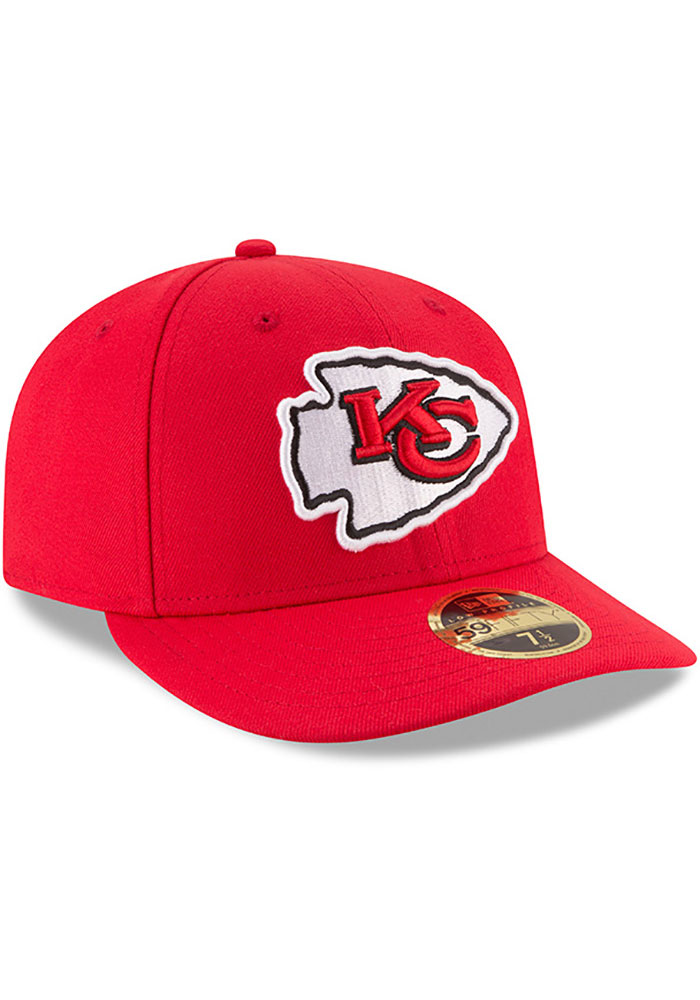 New Era Kansas City Chiefs Mens Red Basic LP59FIFTY Fitted Hat - Image 2