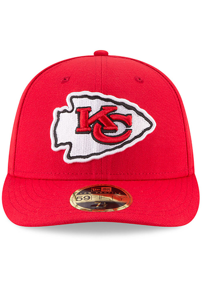New Era Kansas City Chiefs Mens Red Basic LP59FIFTY Fitted Hat - Image 3