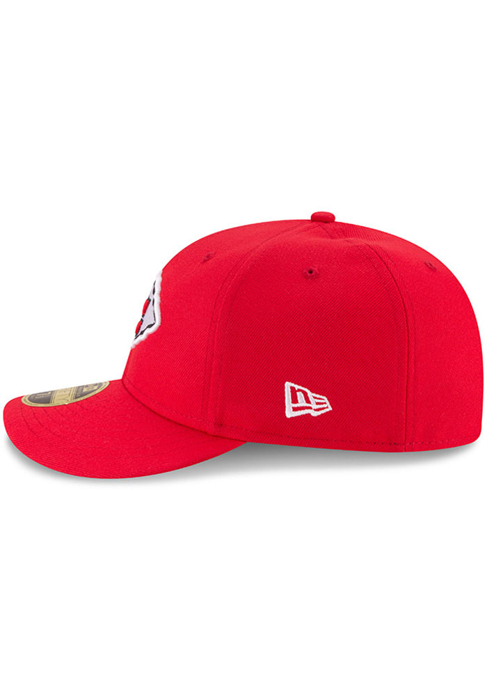 New Era Kansas City Chiefs Mens Red Basic LP59FIFTY Fitted Hat - Image 4