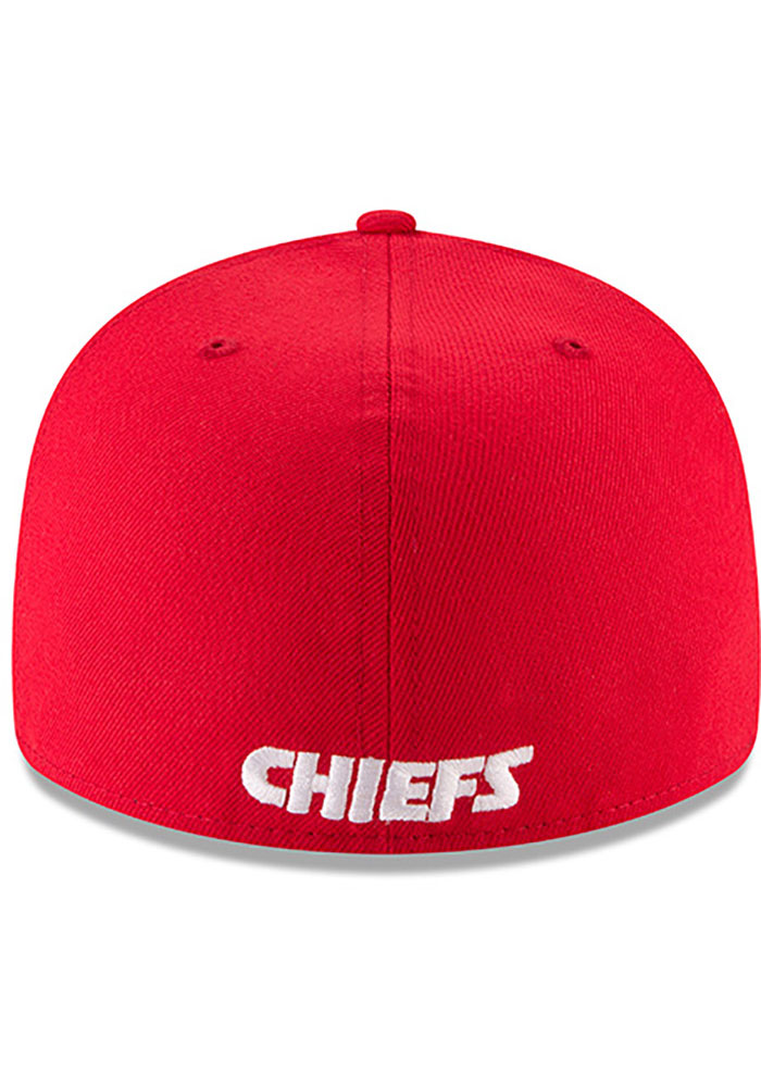 New Era Kansas City Chiefs Mens Red Basic LP59FIFTY Fitted Hat - Image 5