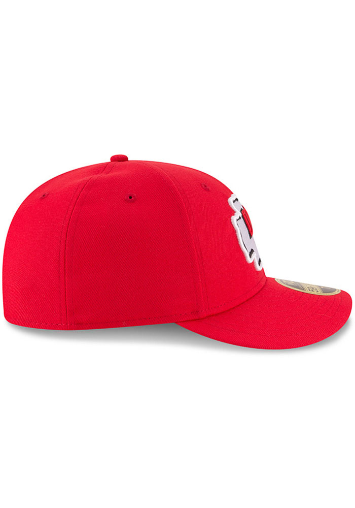 New Era Kansas City Chiefs Mens Red Basic LP59FIFTY Fitted Hat - Image 6