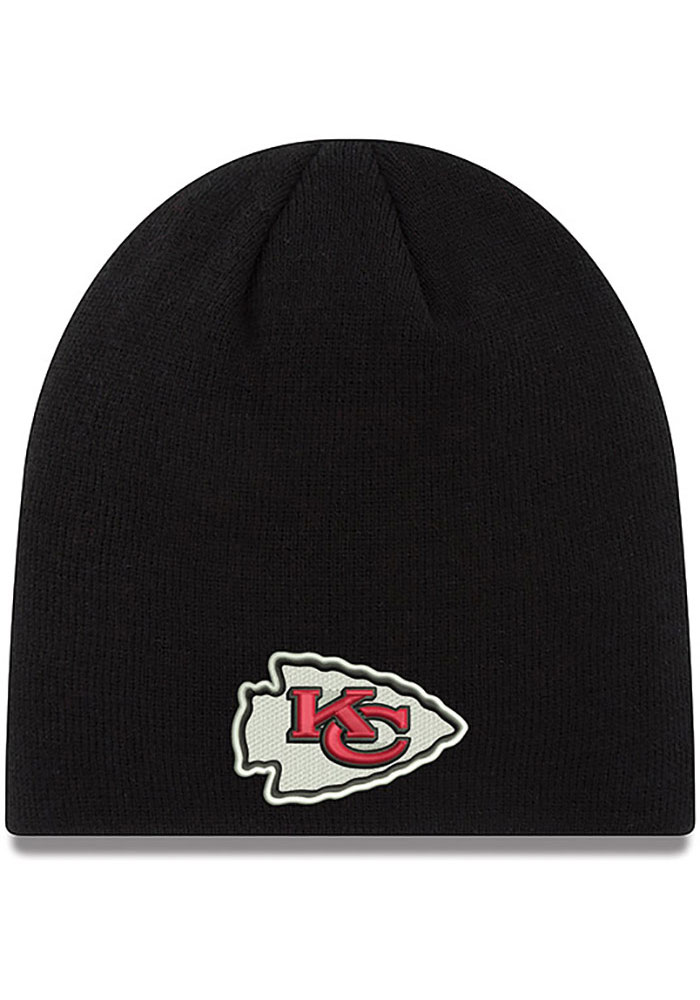New Era Kansas City Chiefs Black Beanie Knit Hat 581478589
