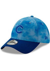 New Era Chicago Cubs Blue 2019 Fathers Day 39THIRTY Flex Hat