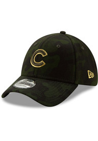 New Era Chicago Cubs Green 2019 Armed Forces Day 39THIRTY Flex Hat
