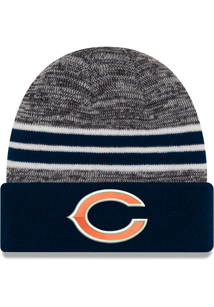 New Era Chicago Bears Navy Blue Marled Cuff Knit Hat