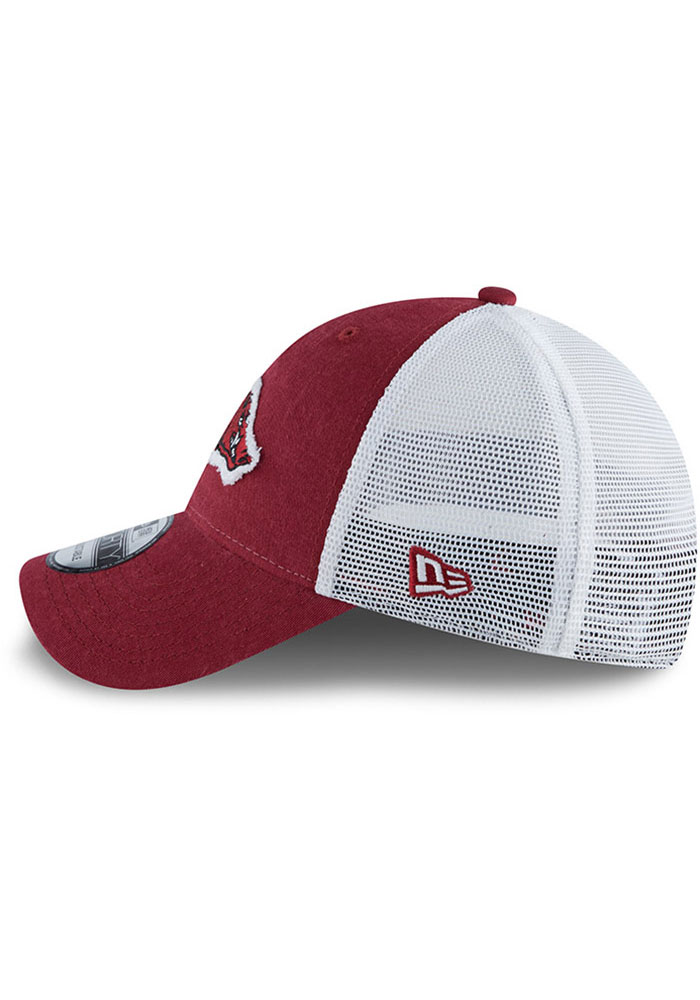 New Era Arkansas Razorbacks Team Truckered 9TWENTY Adjustable Hat - Cardinal - Image 4