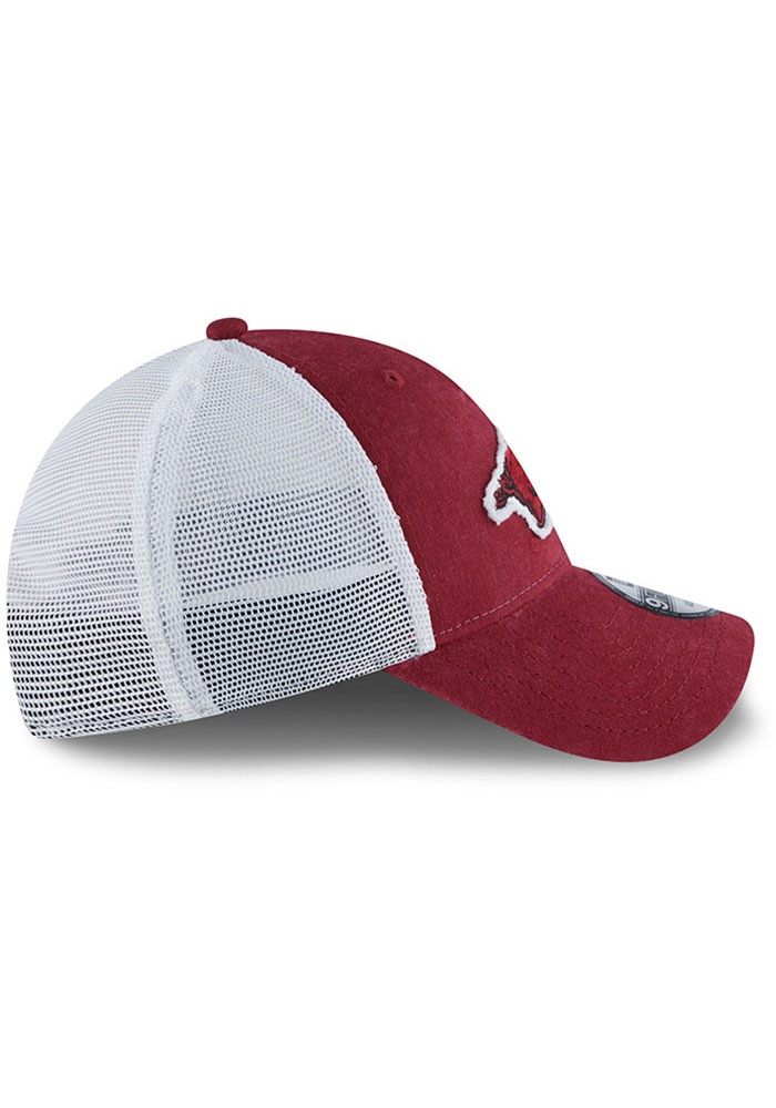 New Era Arkansas Razorbacks Team Truckered 9TWENTY Adjustable Hat - Cardinal - Image 6