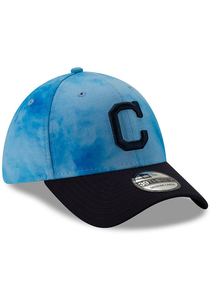 New Era Cleveland Indians Mens Blue 2019 Father's Day 39THIRTY Flex Hat - Image 2