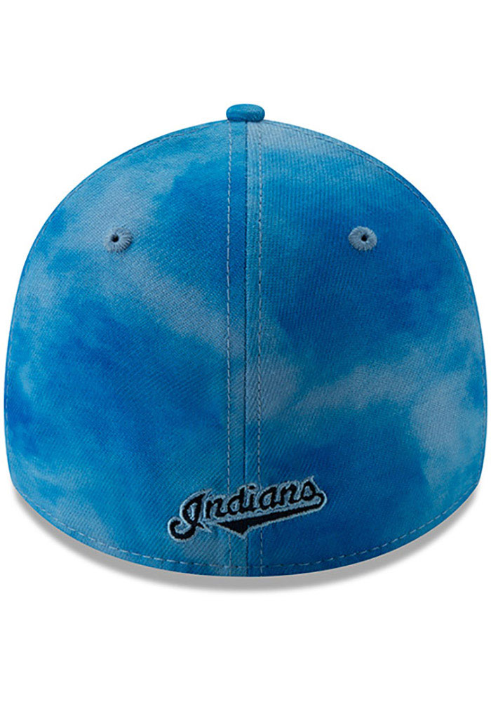 New Era Cleveland Indians Mens Blue 2019 Father's Day 39THIRTY Flex Hat - Image 5