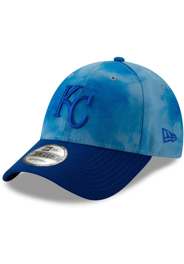 New Era Kansas City Royals 2019 Father's Day 9FORTY Adjustable Hat - Blue - Image 1