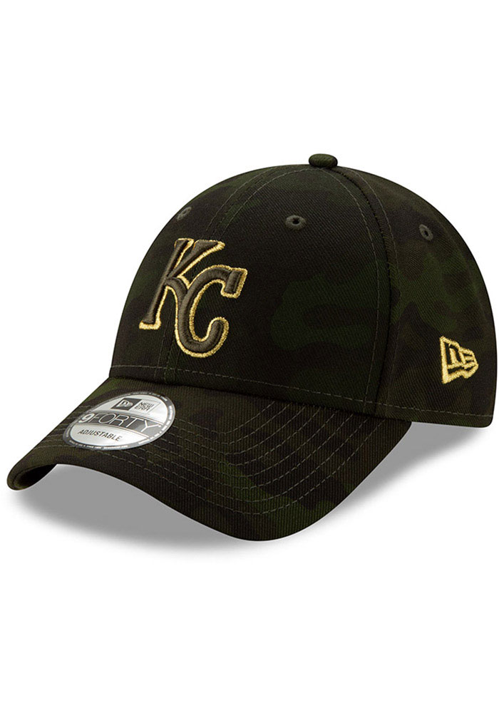 New Era Kansas City Royals 2019 Armed Forces Day 9FORTY Adjustable Hat - Green - Image 1