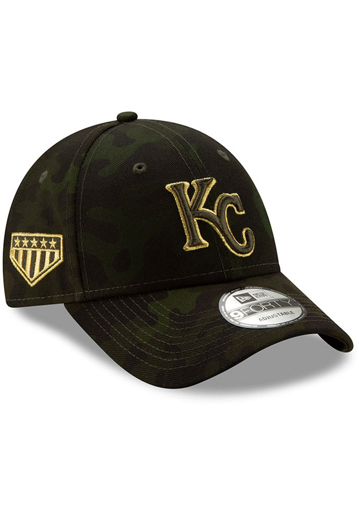 New Era Kansas City Royals 2019 Armed Forces Day 9FORTY Adjustable Hat - Green - Image 2