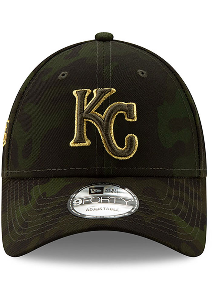 New Era Kansas City Royals 2019 Armed Forces Day 9FORTY Adjustable Hat - Green - Image 3
