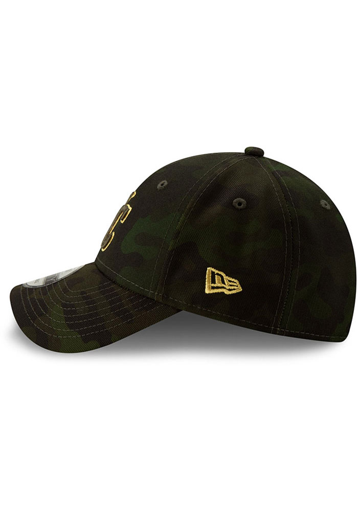 New Era Kansas City Royals 2019 Armed Forces Day 9FORTY Adjustable Hat - Green - Image 4