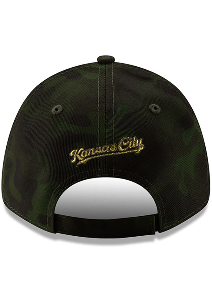 New Era Kansas City Royals 2019 Armed Forces Day 9FORTY Adjustable Hat - Green - Image 5