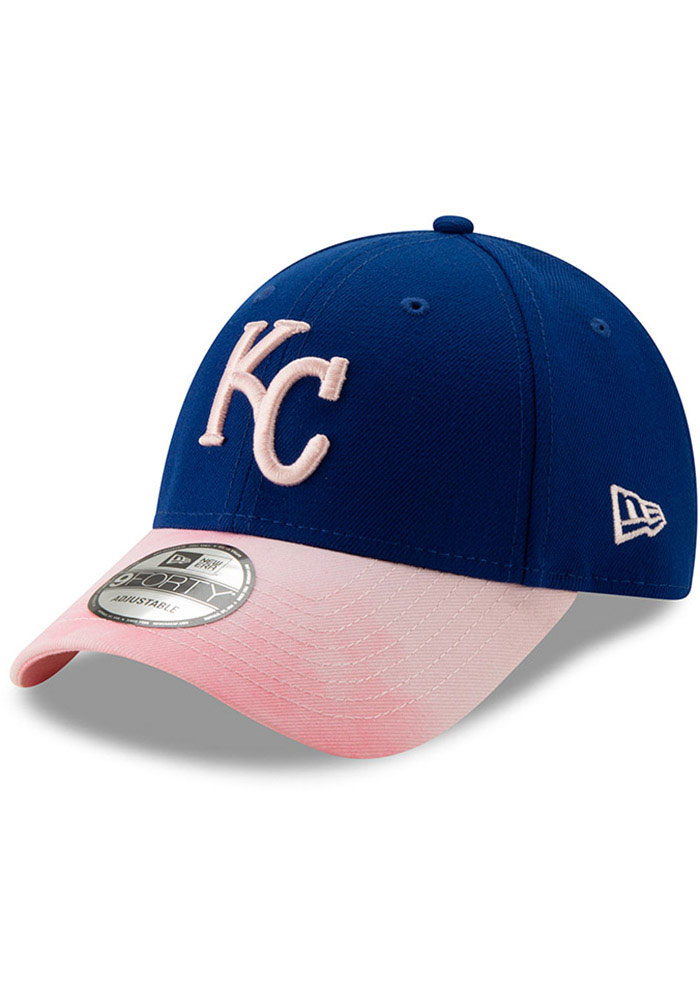 New Era Kansas City Royals 2019 Mothers Day 9FORTY Adjustable Hat - Pink - Image 1