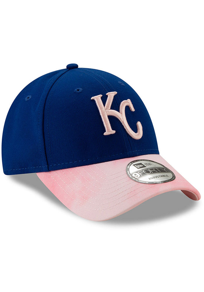 New Era Kansas City Royals 2019 Mothers Day 9FORTY Adjustable Hat - Pink - Image 2