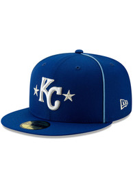 new style 854cc f2160 Kansas City Royals New Era Blue 2019 All Star 59FIFTY Fitted Hat