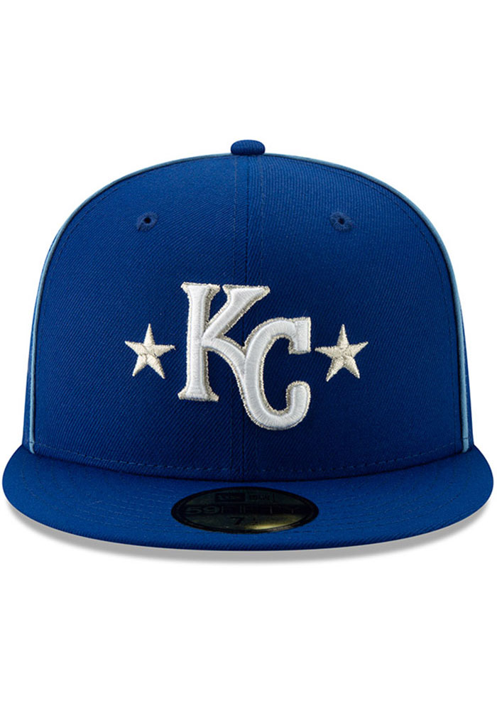 New Era Kansas City Royals Mens Blue 2019 All Star 59FIFTY Fitted Hat - Image 3