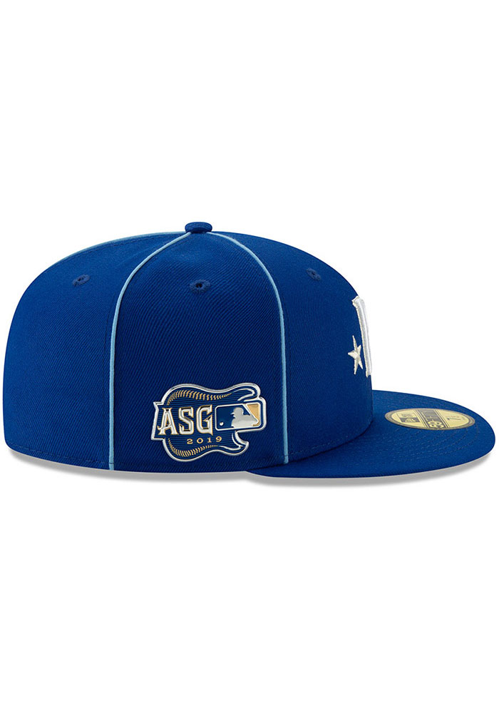 New Era Kansas City Royals Mens Blue 2019 All Star 59FIFTY Fitted Hat - Image 6