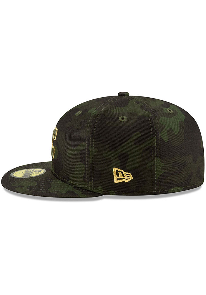 New Era Kansas City Royals Mens Green 2019 Armed Forces Day 59FIFTY Fitted Hat - Image 4