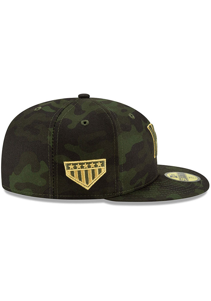 New Era Kansas City Royals Mens Green 2019 Armed Forces Day 59FIFTY Fitted Hat - Image 6