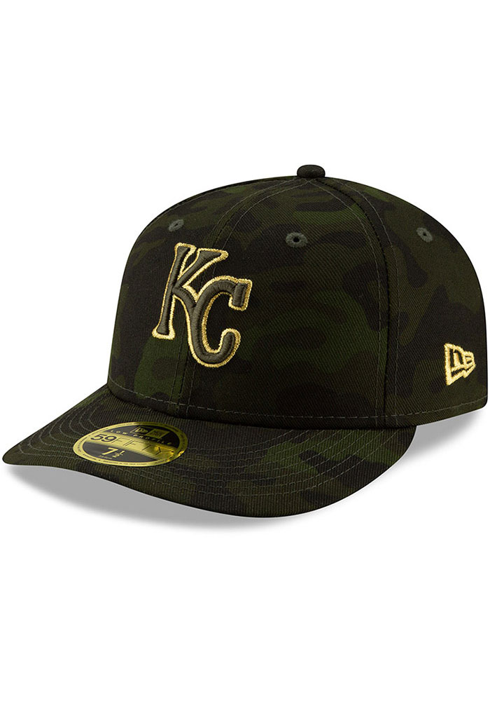 New Era Kansas City Royals Mens Green 2019 Armed Forces Day LP59FIFTY Fitted Hat - Image 1