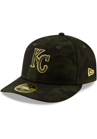 56141e12c2442 Kansas City Royals New Era Green 2019 Armed Forces Day LP59FIFTY Fitted Hat