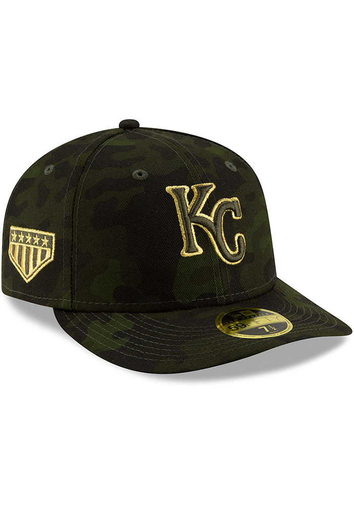 New Era Kansas City Royals Mens Green 2019 Armed Forces Day LP59FIFTY Fitted Hat - Image 2
