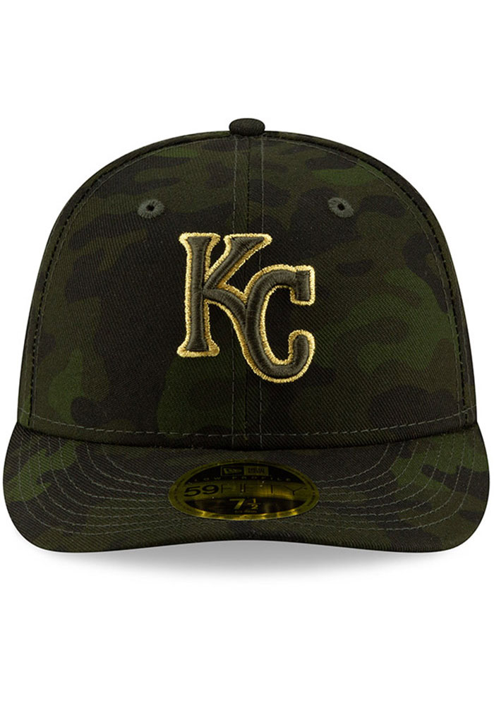 New Era Kansas City Royals Mens Green 2019 Armed Forces Day LP59FIFTY Fitted Hat - Image 3