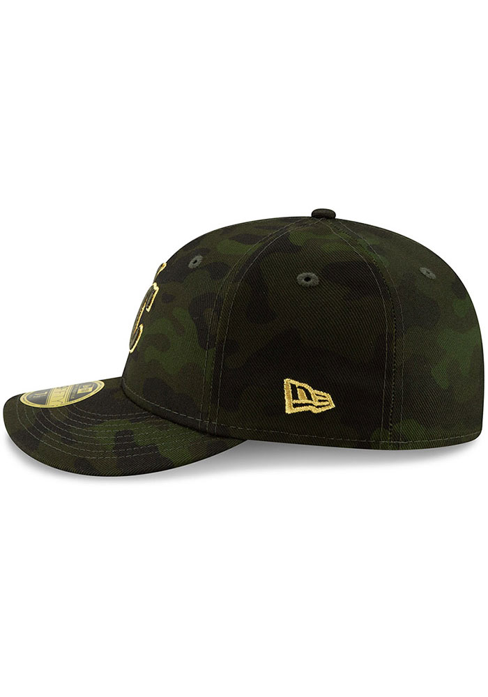 New Era Kansas City Royals Mens Green 2019 Armed Forces Day LP59FIFTY Fitted Hat - Image 4