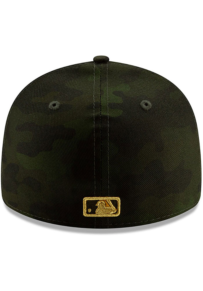 New Era Kansas City Royals Mens Green 2019 Armed Forces Day LP59FIFTY Fitted Hat - Image 5