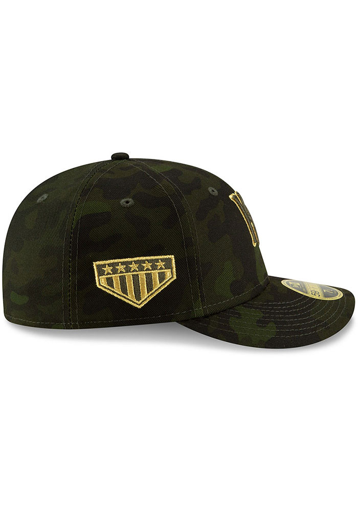 New Era Kansas City Royals Mens Green 2019 Armed Forces Day LP59FIFTY Fitted Hat - Image 6