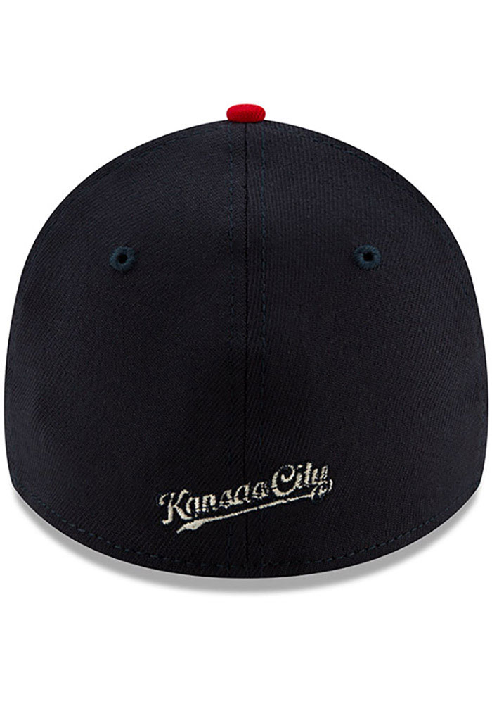 New Era Kansas City Royals Mens Navy Blue 2019 4th of July 39THIRTY Flex Hat - Image 5