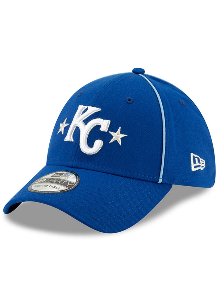 New Era Kansas City Royals Mens Blue 2019 All Star 39THIRTY Flex Hat - Image 1